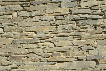 walloon: Wall of house built from typical for Walloon grey stones and specific layout Stock Photo