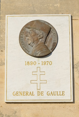 general cultural heritage: NANCY, FRANCE - JULY, 6: Memorial of General de Gaulle on July 6, 2013 in Nancy. De Gaulle visited Nancy on September 25, 1944 and on June 6, 1961