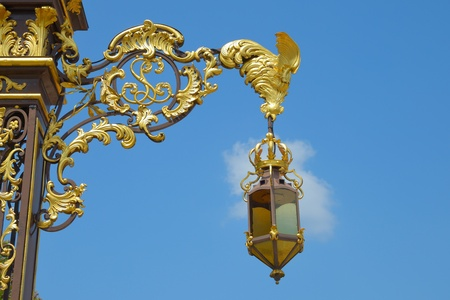Lantern from historical place Stanislas in Nancy, France in clear day
