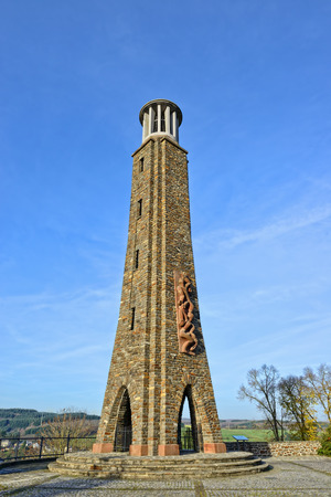 respire: WILTZ, LUXEMBOURG-NOVEMBER 23, 2014: Memorial of The Strike created by Lucien Wercollier in 1956. The national strike had place on 31 August 1942 against German occupation
