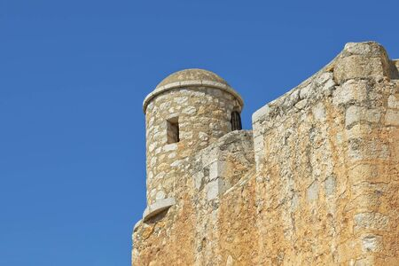 templars: Watch tower of Templar Castle in historical center of Peniscola, Spain