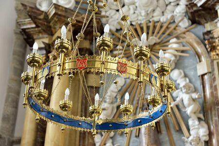 OUDENAARDE, BELGIUM-JUNY 23, 2015: Interior of church Saint Walburga, known from 11 century Editorial
