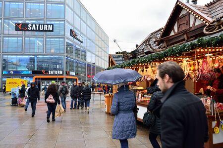 BERLIN, GERMANY-DECEMBER 23, 2014: Christmas market in Berlin