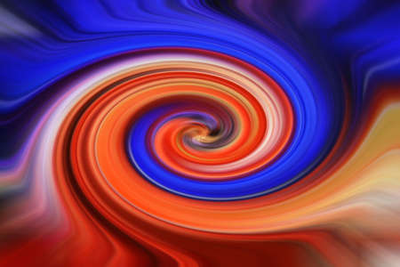 Bright red and blue abstract twirl Stock Photo