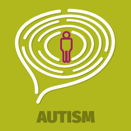 psychiatry: Brain maze symbolizes autism, psychology, psychiatry