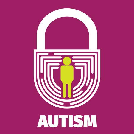 special education: Brain maze symbolizes autism, psychology, psychiatry