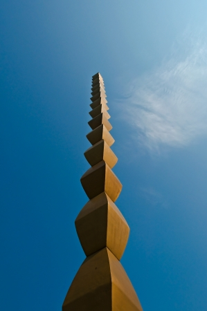 A well known creation of Brancusi; the column of infinity