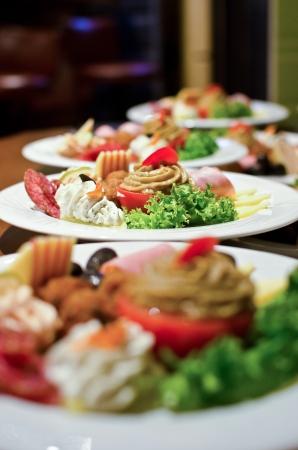buffet food: Entradas para el partido