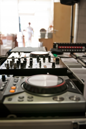Mixes music station Stock Photo