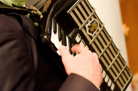 Man playing accordion photo