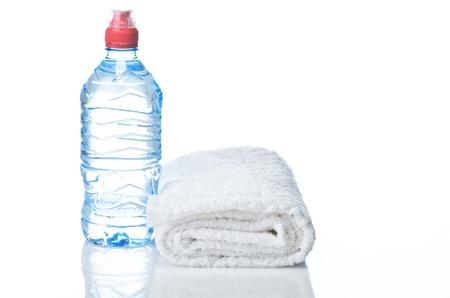 Fitness equipment towel, water