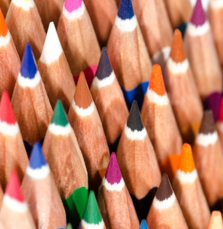Sharpened pencils and placed in group Stock Photo - 15139481