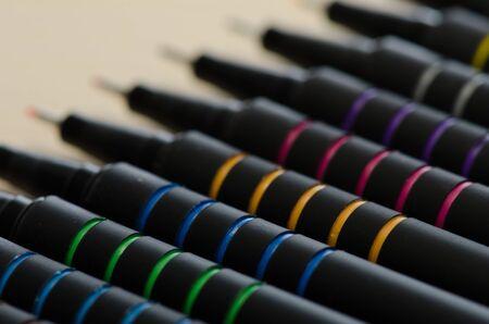 Colored pens macro Stock Photo - 15139444