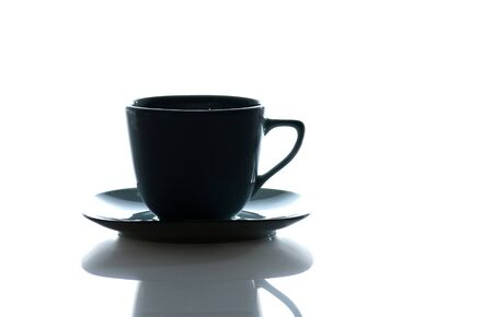 Cup  of coffee isolated against a  white background photo