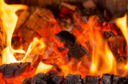 Pieces of wood burning Stock Photo - 21411340