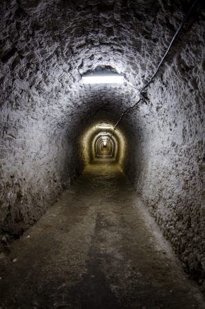 The entrance in Salt Extraction Turda Stock Photo