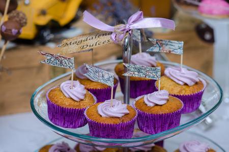 Wedding sweets bar with chocolate photo