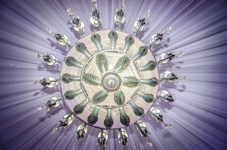 banquet facilities: Event ballroom chandelier close-up