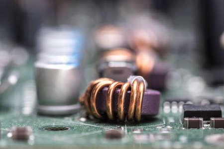 mainboard: Computer mainboard detail selective focus Stock Photo