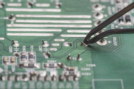 mainboard: Mainboard soldering selective focus