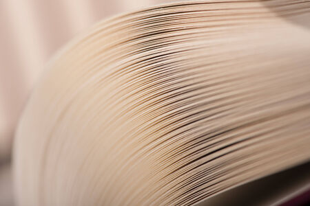 Books pages extreme close-up