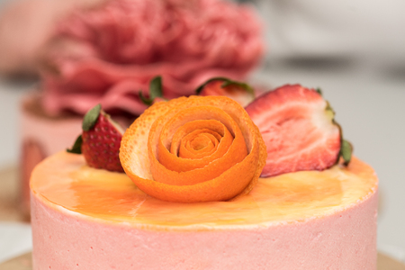 cake topping: Strawberry and orange cake topping