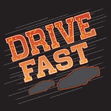 dragster: Motorsport, Racing sports typography, t-shirt graphics, vectors