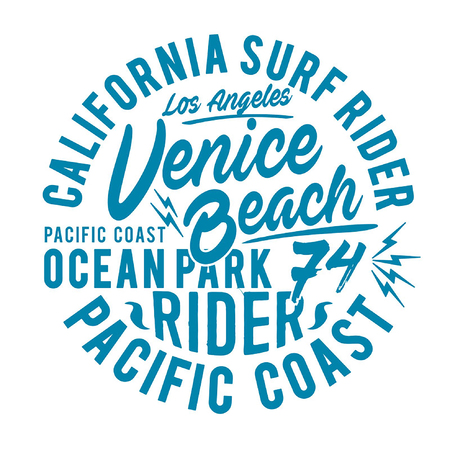 Surf sports athletic California typography, t shirt graphics, vectors