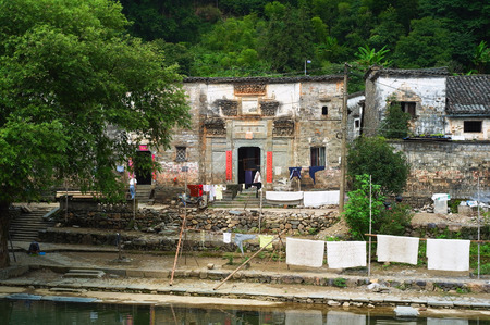 Landscape view of a residential building in an ancient town Editorial