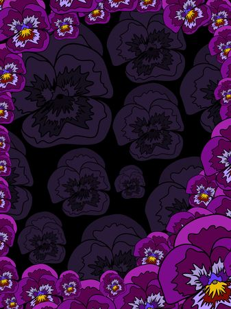 pattern  in the manner of  flowers   Stock Photo