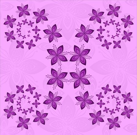 pattern  in the manner of  flowers   photo