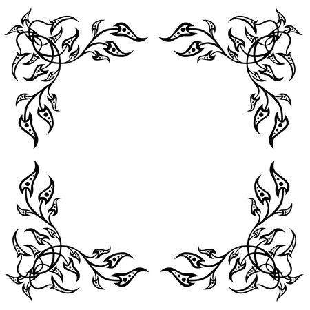 curlicue: frame in the manner of foliage  and flowers
