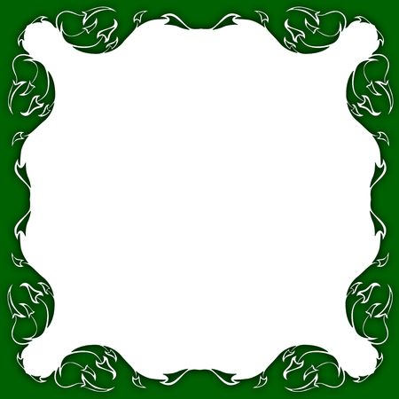 frame in the manner of foliage Stock Photo