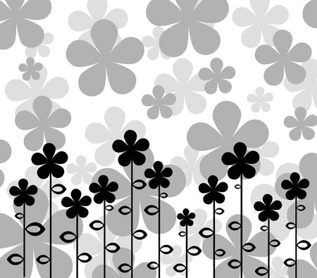 pattern  in the manner of  several  flowers   Stock Photo