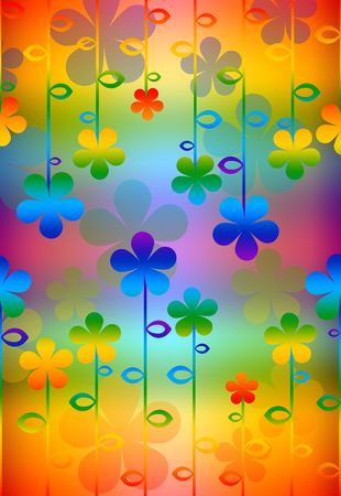 varicoloured: pattern  in the manner of  several  flowers   Stock Photo