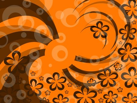 pattern  in the manner of  flowers  and twisted figures