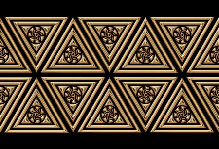 pattern  in the manner of  several geometric figures