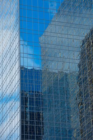 High rise office tower window reflections
