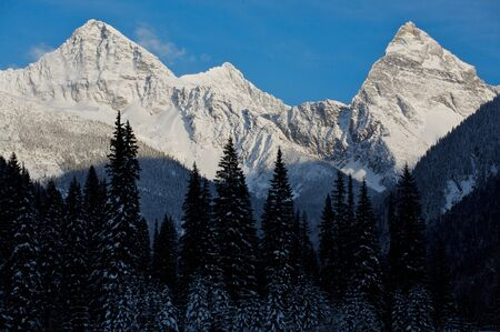 Mount Sir Donald in the Selkirk Mountains at Rogers Pass British Columbia, Canada