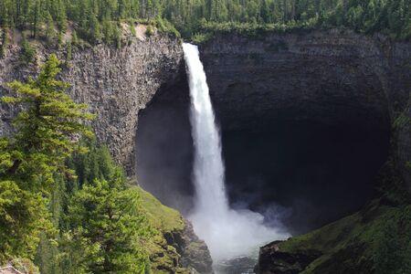 Helmcken waterfalls in Wells Gray Provincial Park, British Columbia, Canada