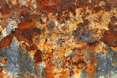 splotchy: Rust on old textured metal