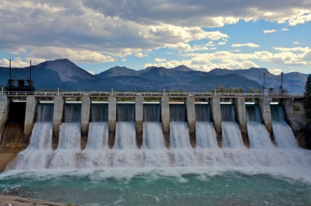 Spillway of a hydro electric dam