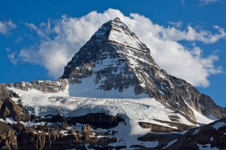 Mount Assiniboine in the Rocky Mountains of Canada in British Columbia, Canada Stock Photo