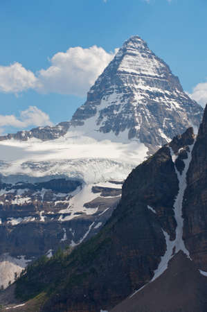 Mount Assiniboine in the Rocky Mountains of Canada in British Columbia