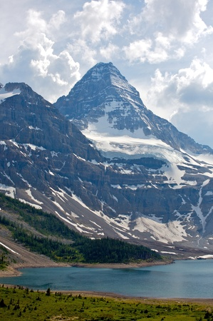 Mount Assiniboine in the Rocky Mountains of Canada in British Columbia, Canada