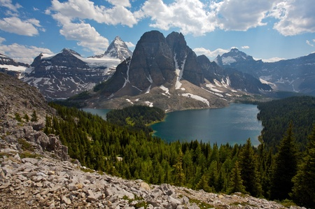assiniboine: Mount Assiniboine in the Rocky Mountains of Canada in British Columbia, Canada