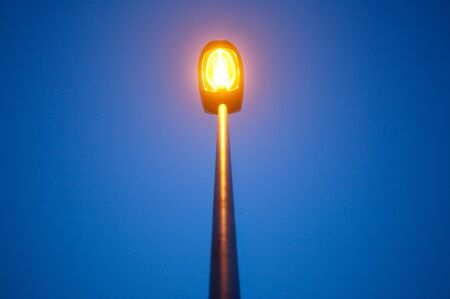 Warm street light with blue night sky Stock Photo - 11617153