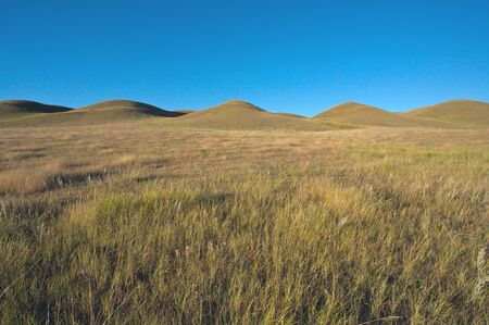Small hills in prairie landscape