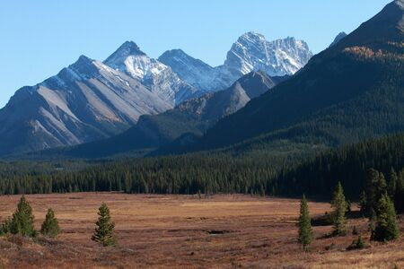 Mount French and Mount Smith-Dorrien in the Canadian Rockies, Alberta
