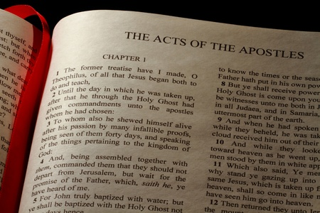 Chapter 1 of the Book of Acts in the New Testament of the Holy Bible photo